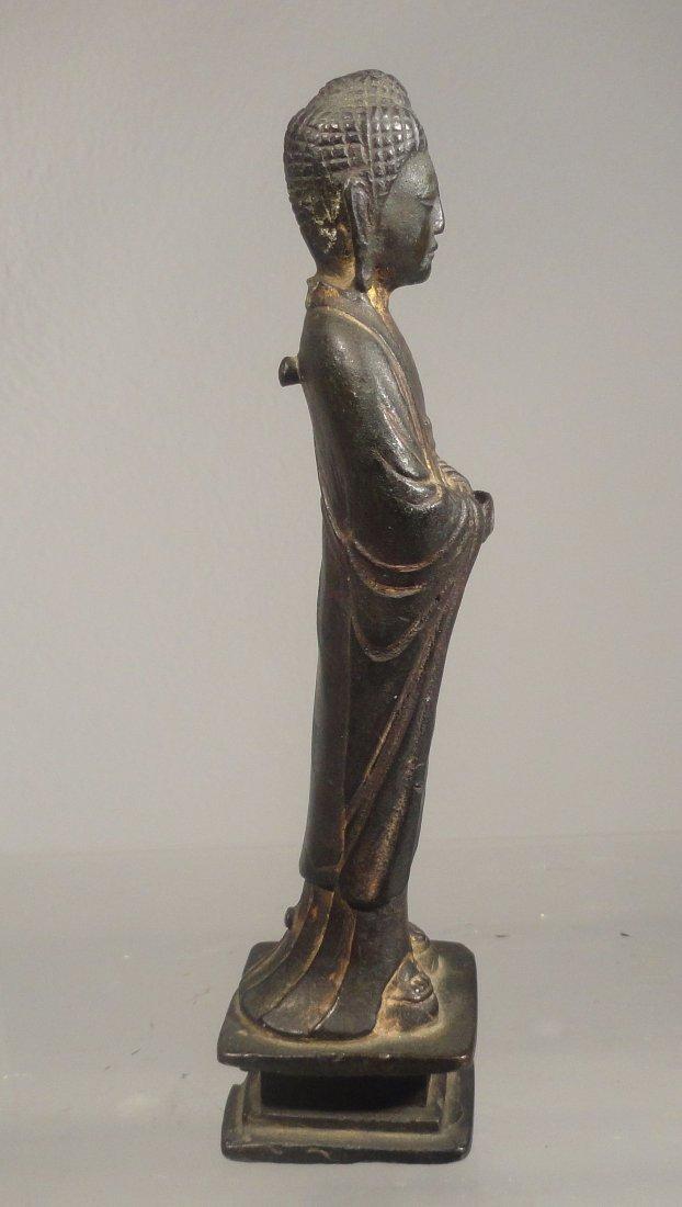 Chinese Liao Dynasty Gilt Bronze Standing Buddha - 5