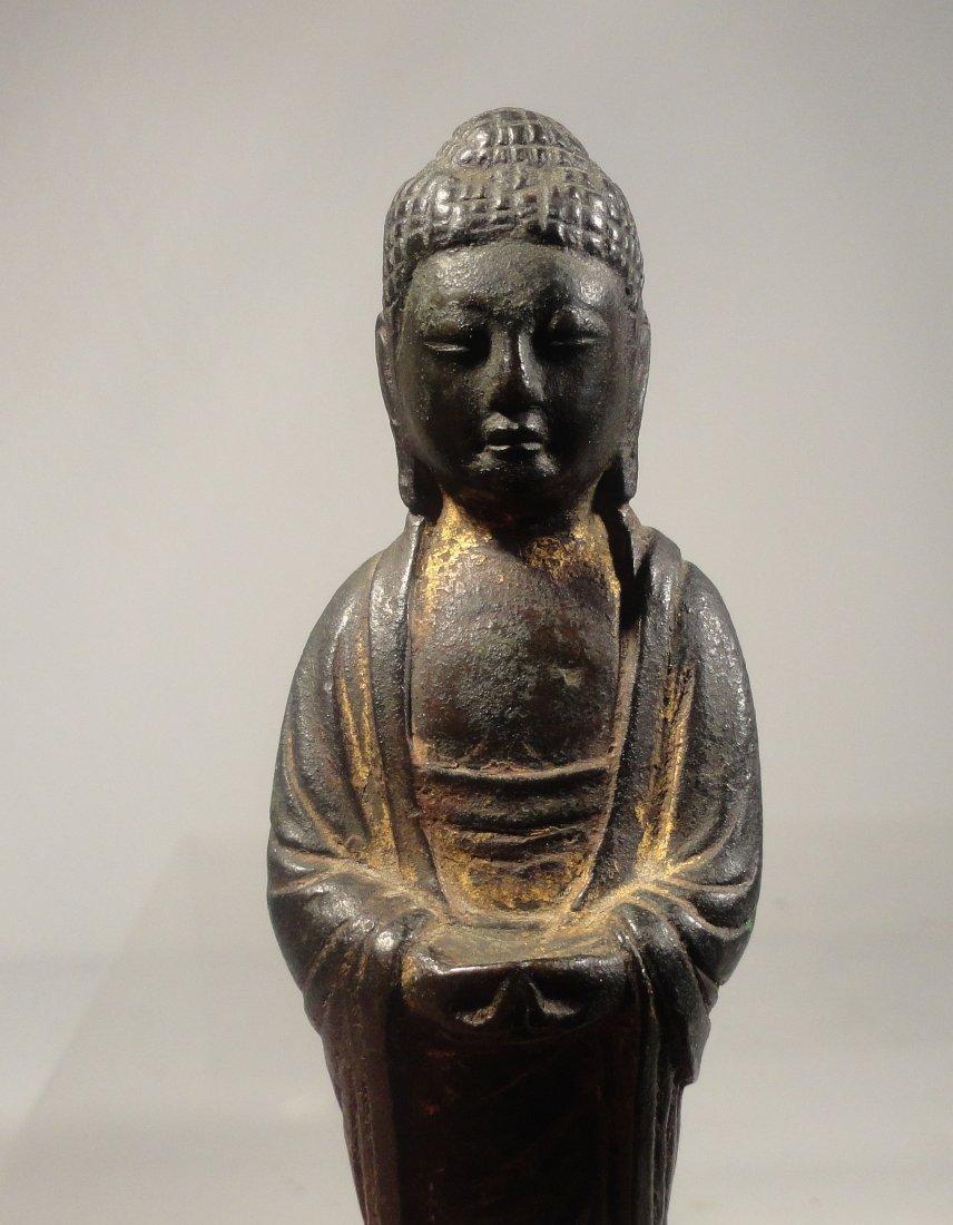 Chinese Liao Dynasty Gilt Bronze Standing Buddha - 6