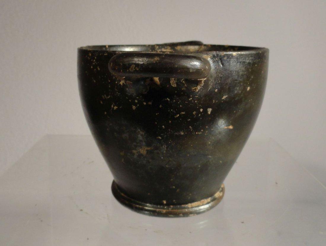 Blackware Luster Greco-Roman Pottery Vessel Apulian - 3