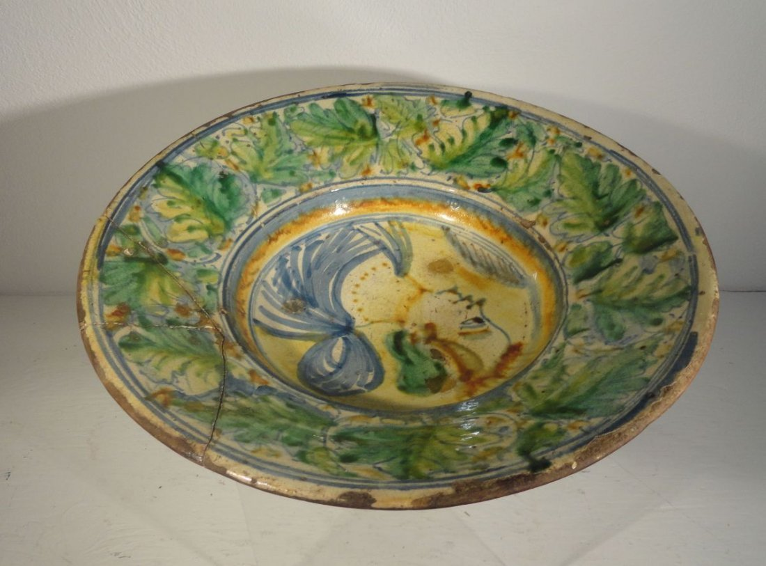 16th or Early 17th Cent Italian Majolica  Charger - 10