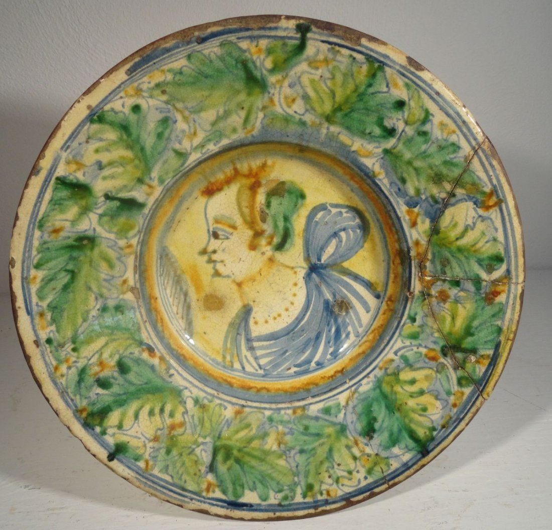 16th or Early 17th Cent Italian Majolica  Charger