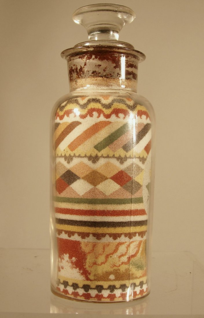 Andrew Clemens Sand Bottle 1887 w Paper Label - 2