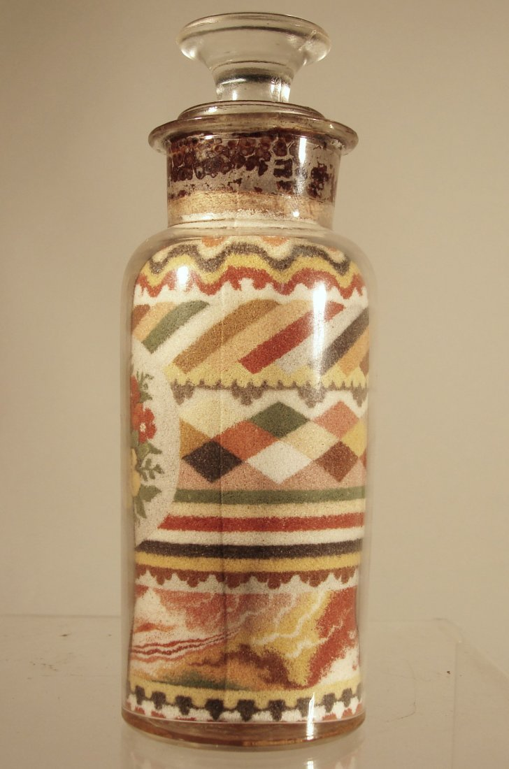Andrew Clemens Sand Bottle 1887 w Paper Label - 3
