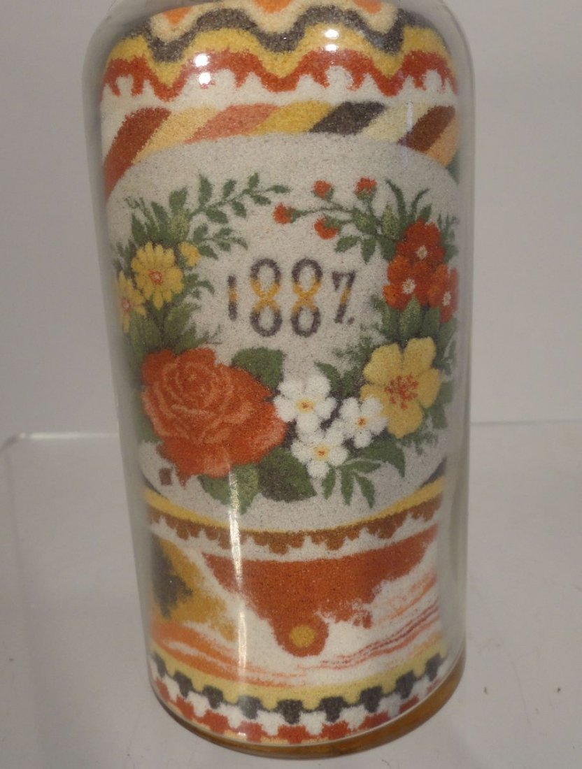 Andrew Clemens Sand Bottle 1887 w Paper Label - 5