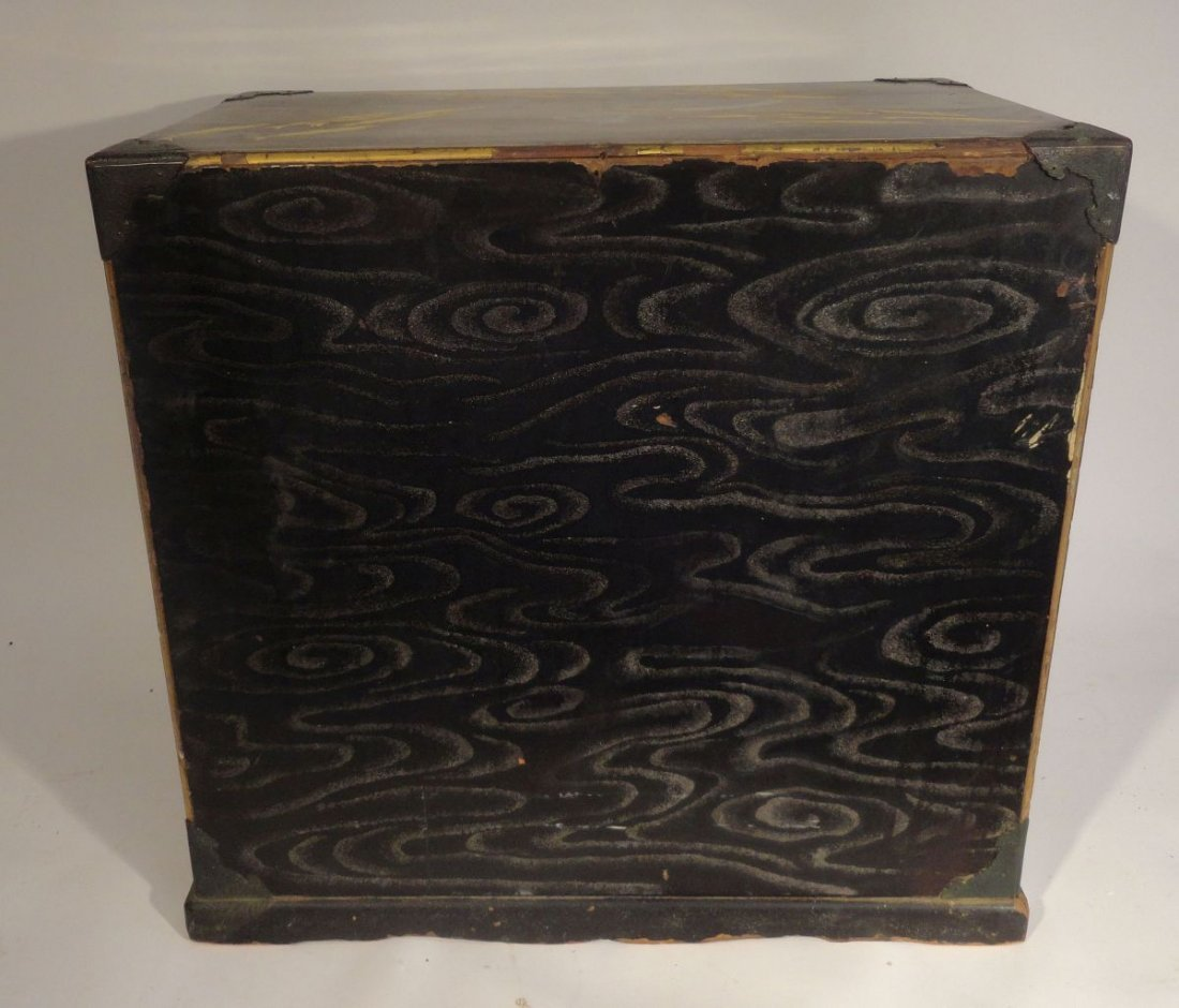Fine Japanese Gilt Lacquer Cabinet Jewelry Case Fish - 7