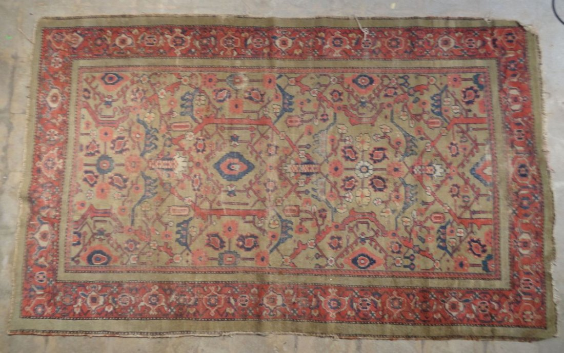 Antique Persian Mahal Rug 19th or 20th Century Area Rug