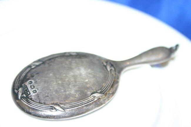 English Sterling Silver Mirror
