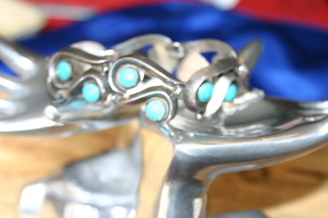 Mota Comma .970 Silver Bracelet Eagle #3