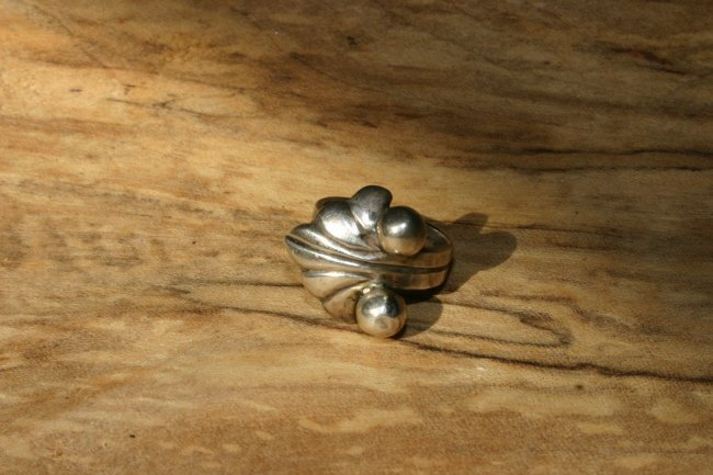 Taxco 980 Silver Owl Ring Size 5 1/2