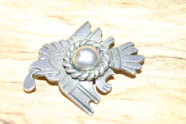 Serafin Moctezuma Taxco 940 Silver Brooch