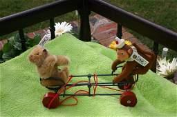 Steiff Teddy Baby & Monkey Wig Wag