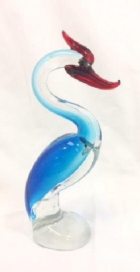MURANO BLUE GLASS PRETTY SEA BIRD