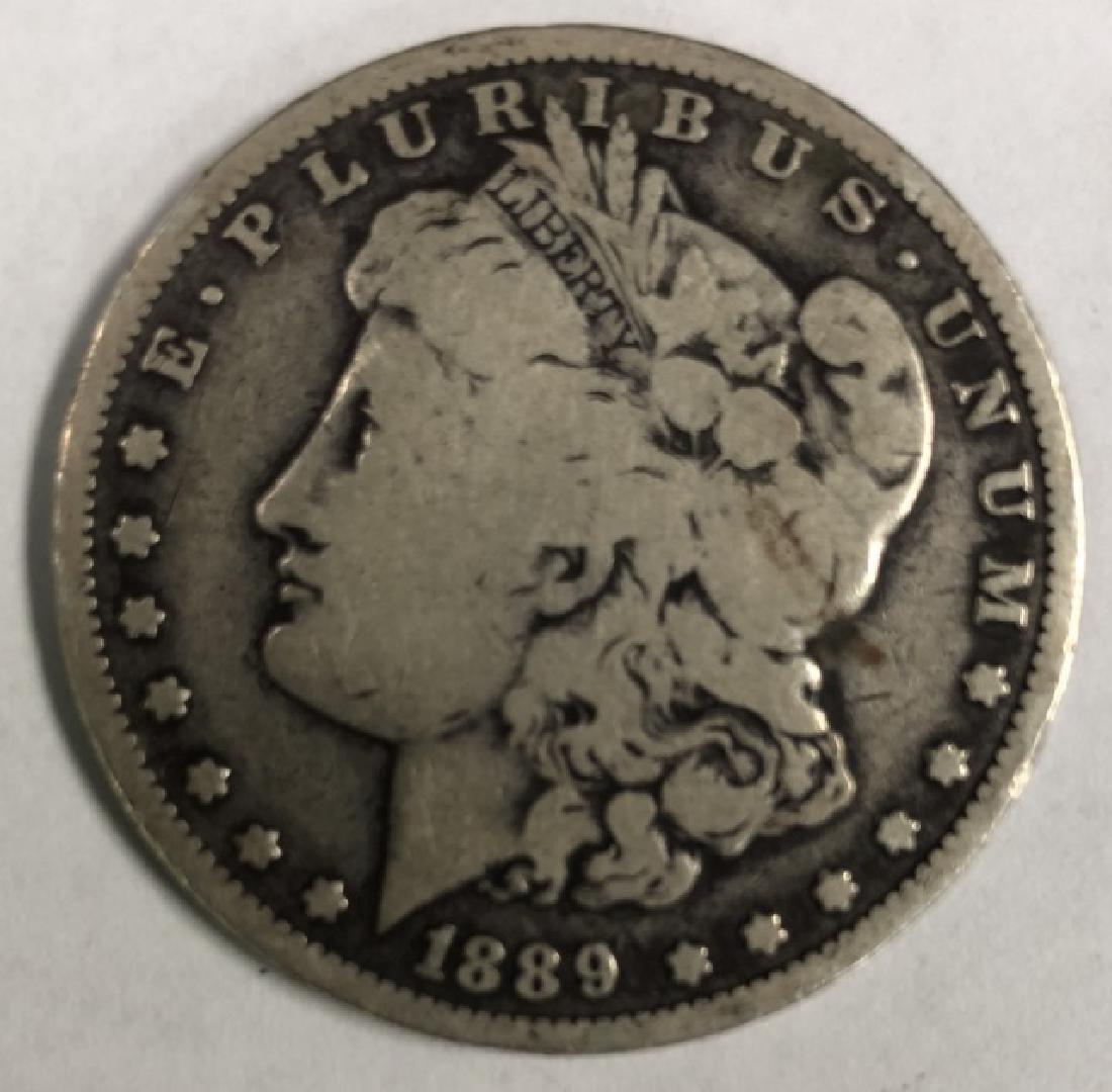 1889 MORGAN ONE DOLLAR COIN