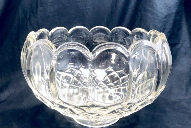 VINTAGE LARGE FOSTORIA PRESSED GLASS BOWL