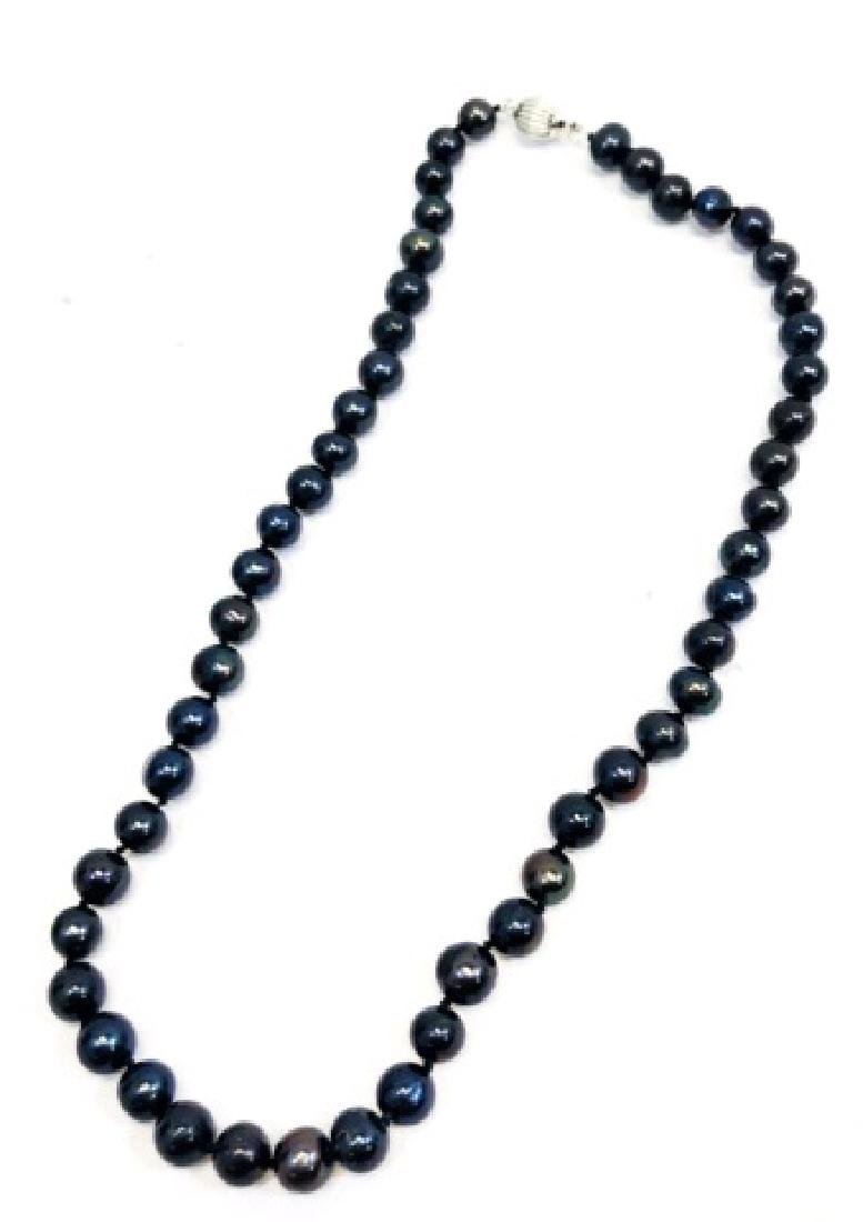 GORGEOUS NATURAL AKOYA PEARL BEADED NECKLACE