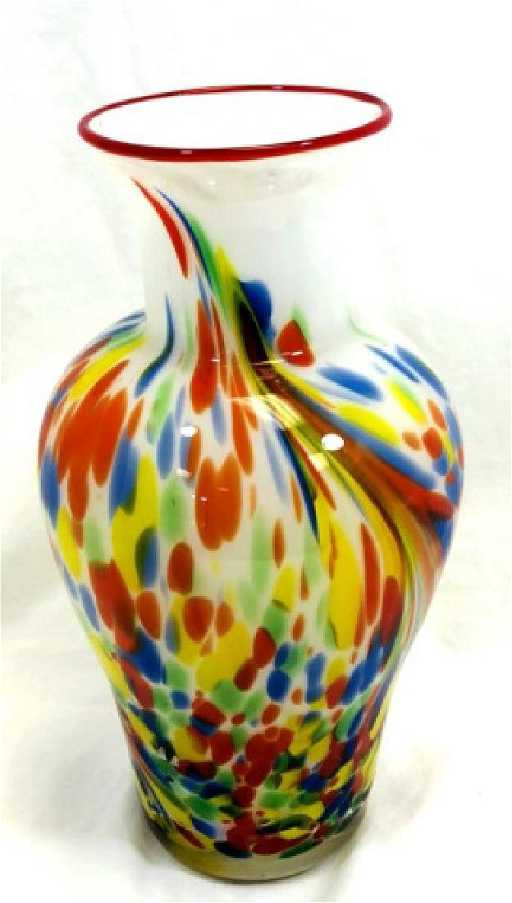 Fantastic Murano Carnivale Color Glass Vase