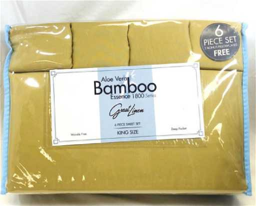 New Great Linen Aloe Vera Bamboo Sheet Set