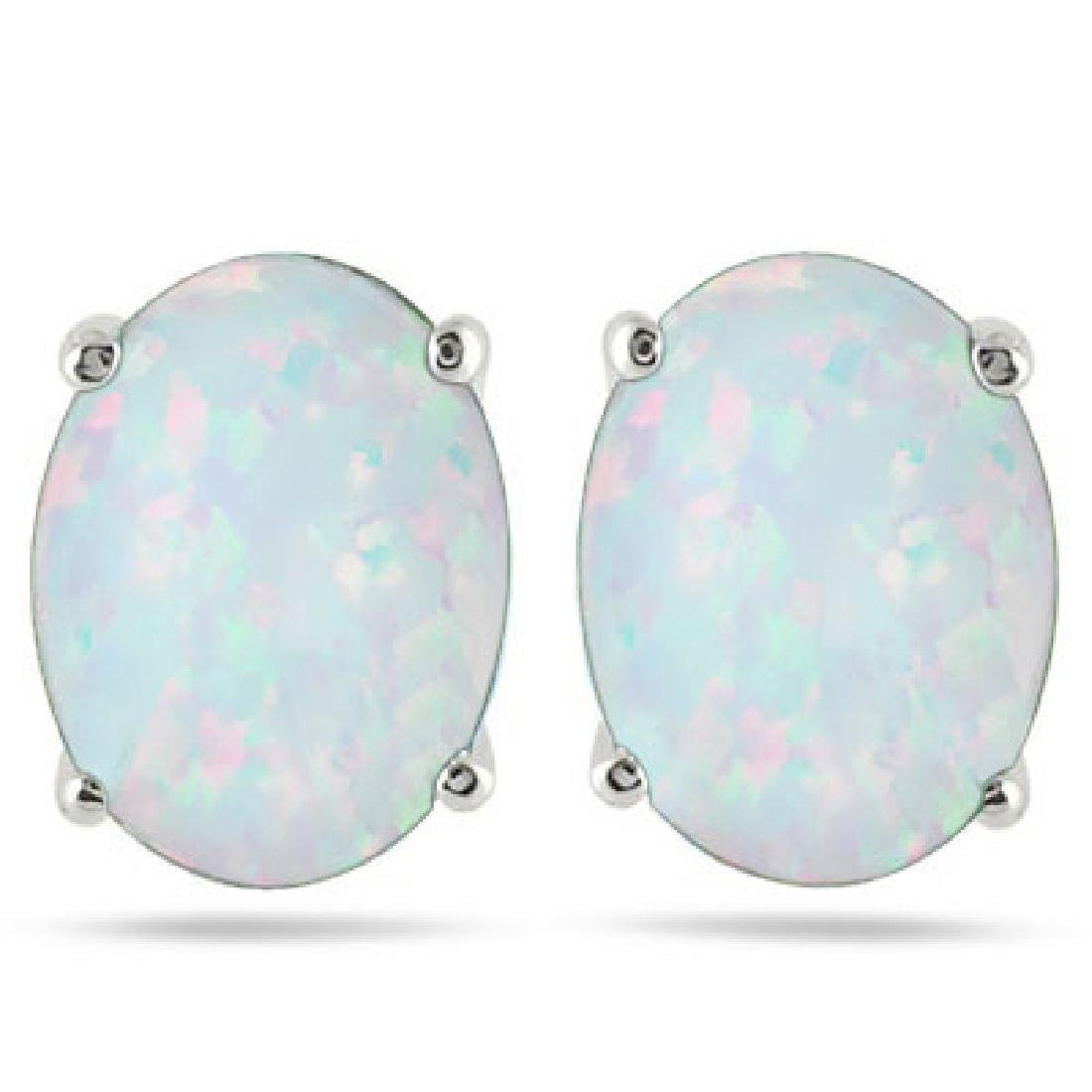 SPARKLING 1CT OVAL FIRE OPAL EARRINGS