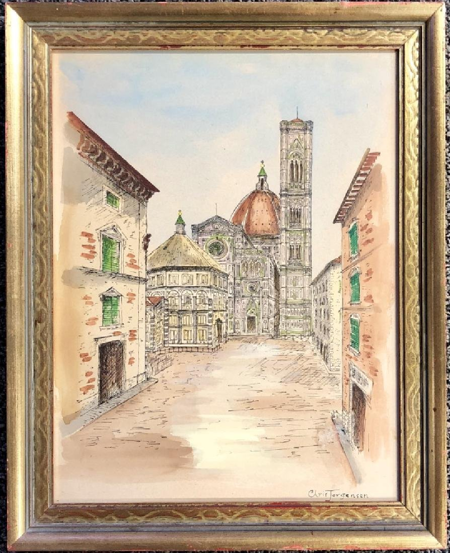 CHRISTIAN JORGENSEN WATERCOLOR ON PAPER V$4,000 - 2