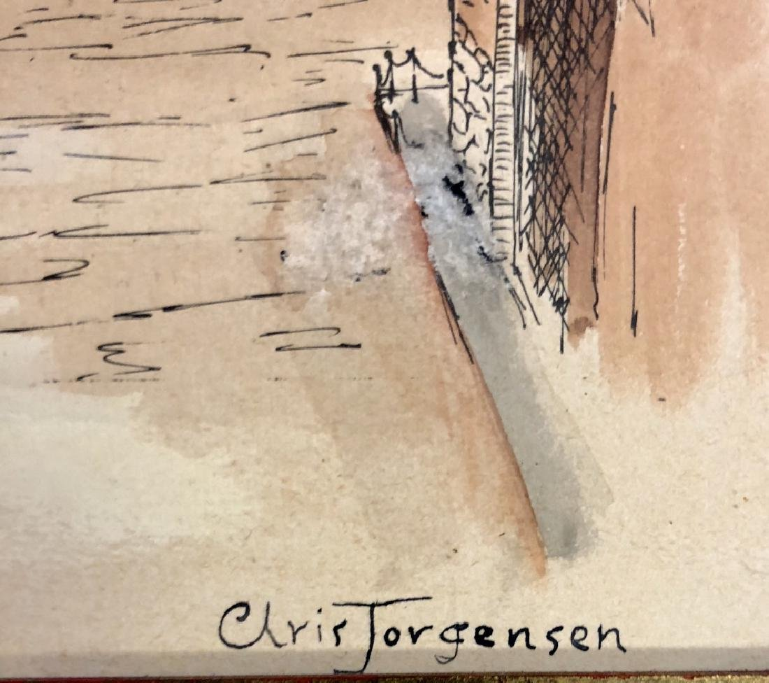 CHRISTIAN JORGENSEN WATERCOLOR ON PAPER V$4,000 - 3