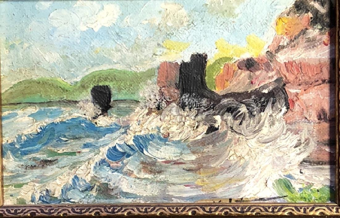 DARIUS YEKTAI OIL ON CANVAS SEASCAPE