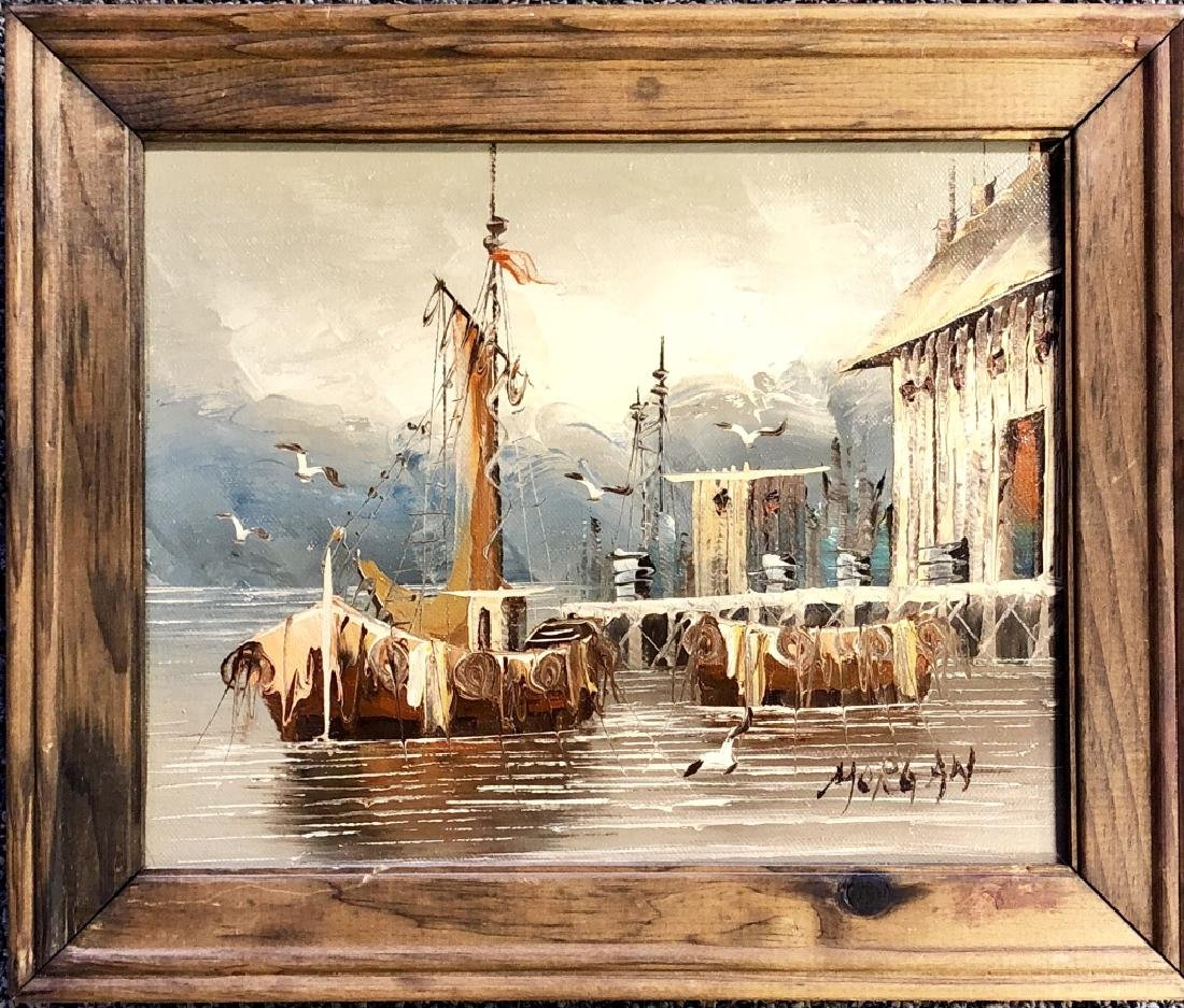 ALFRED MORGAN OIL ON BOARD V$1,000 - 2