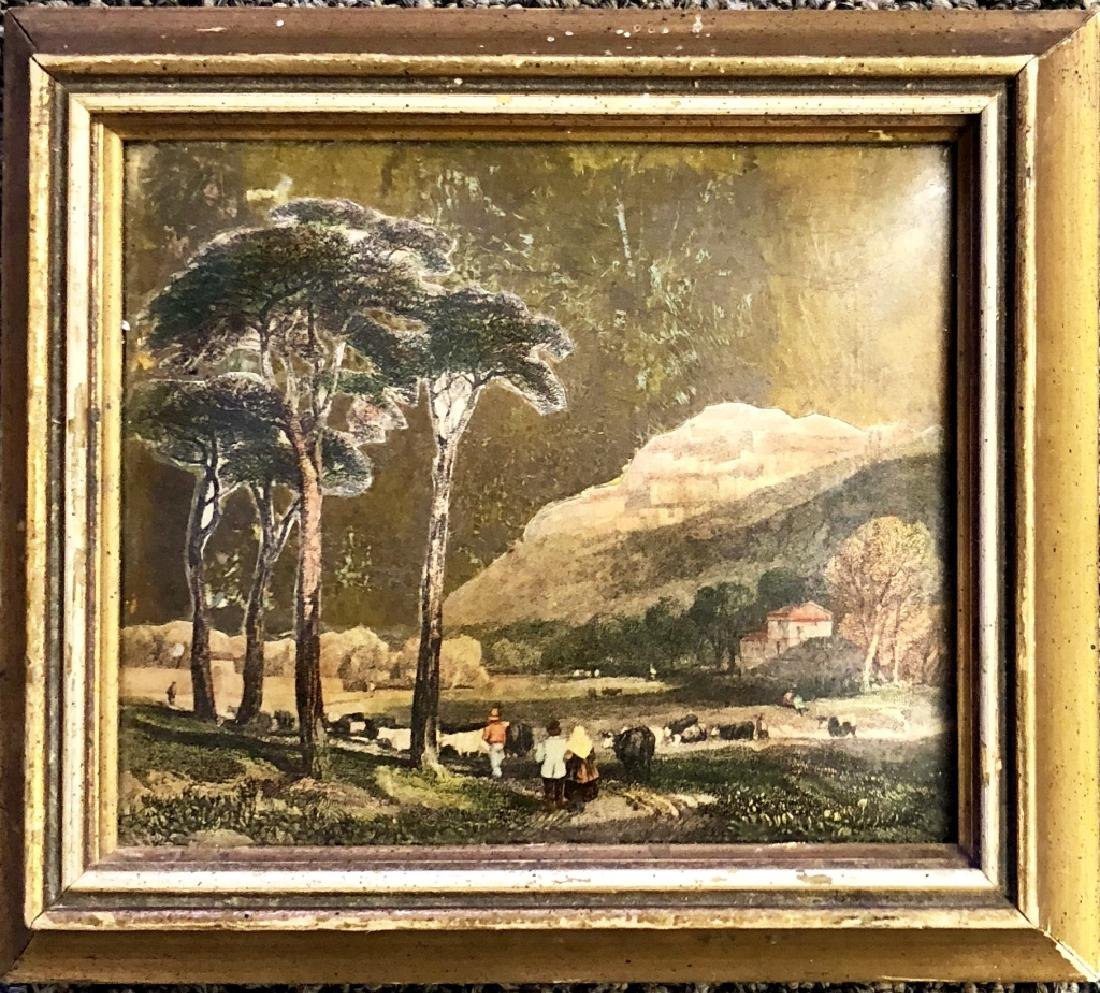 ANTIQUE FRENCH DECOUPAGE PAINTING - 2