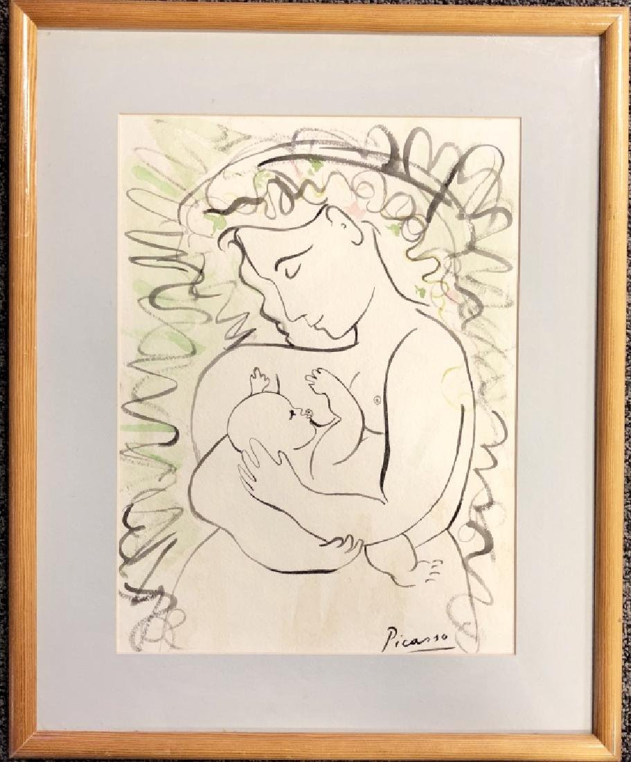 PABLO PICASSO INDIA INK ON PAPER V$9,200 - 2