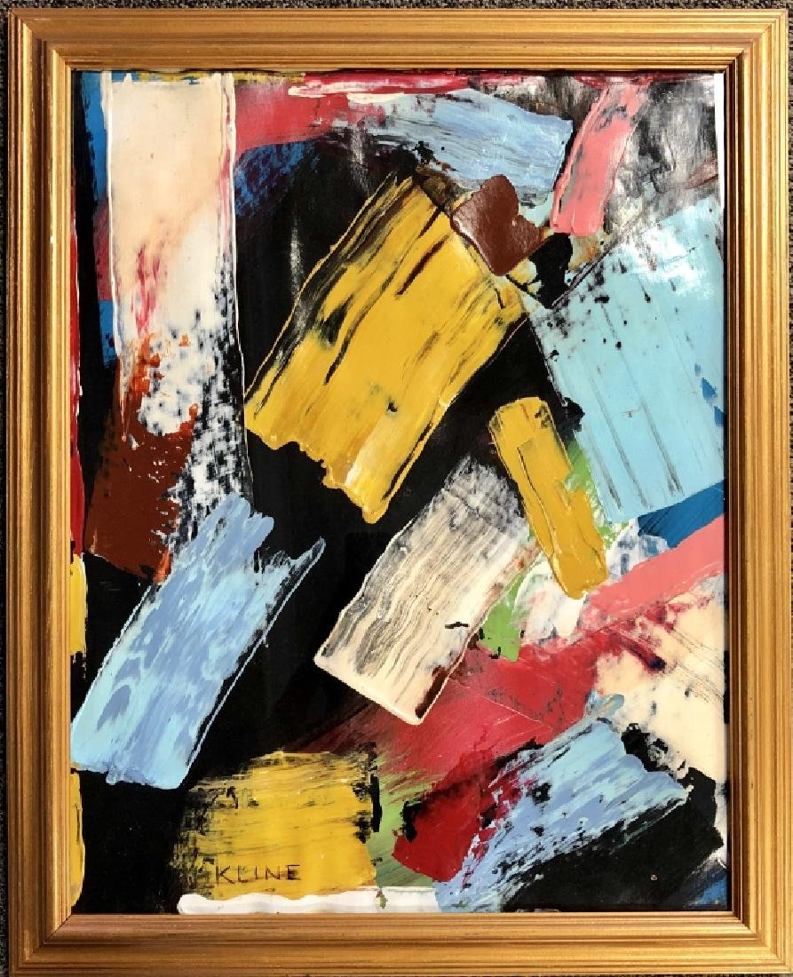 FRANZ KLINE  ABSTRACT OIL ON BOARD V$100,000 - 2