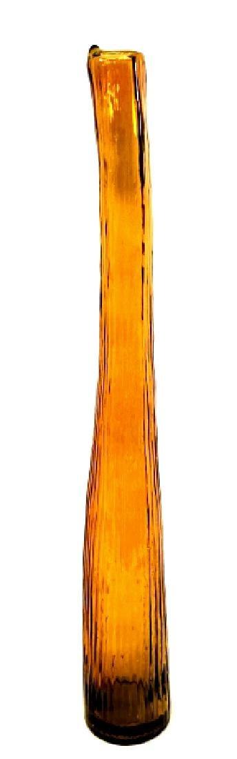 VINTAGE MID CENTURY MURANO ORANGE GLASS VASE