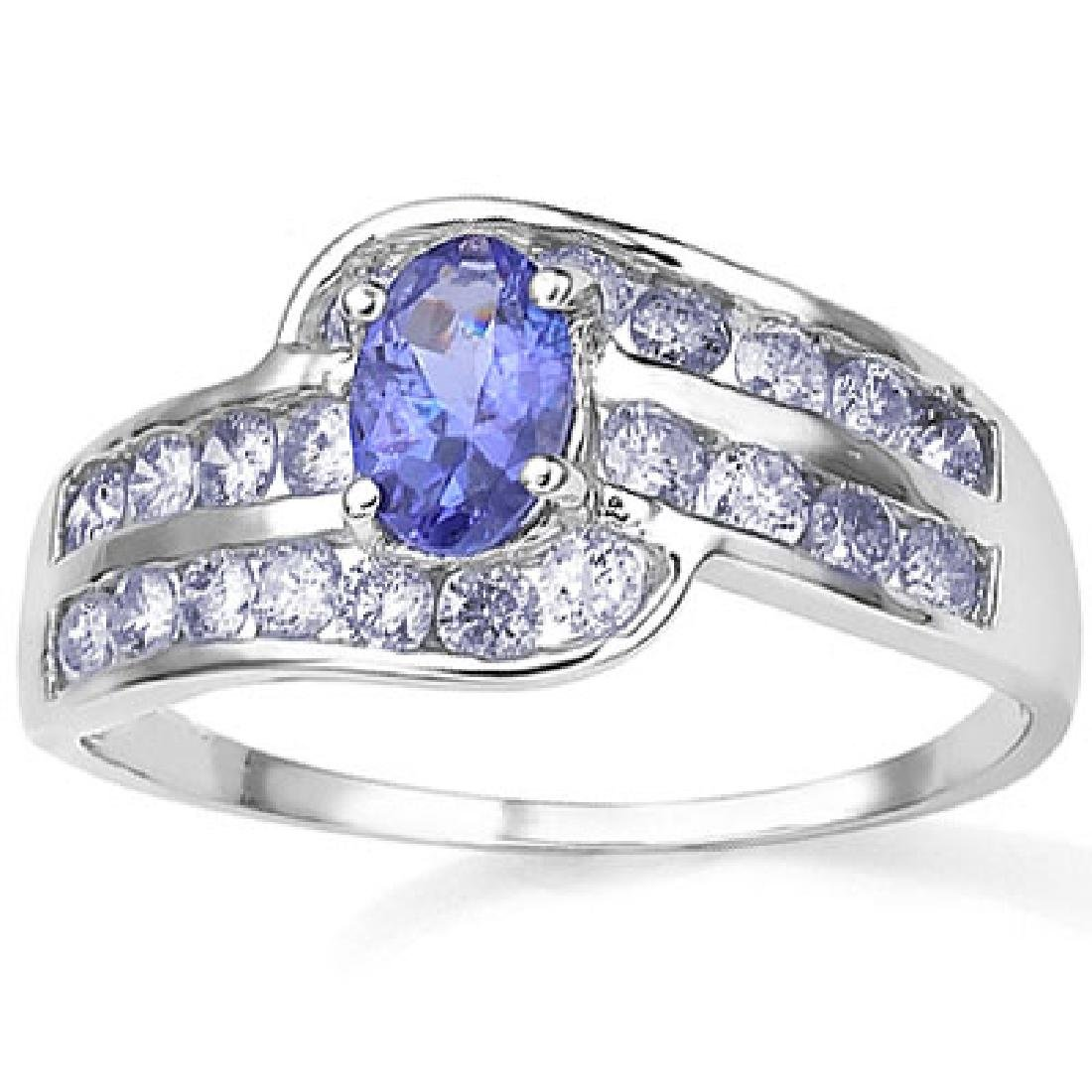 BEAUTIFUL MULTI TANZANITE ELITE STERLING RING