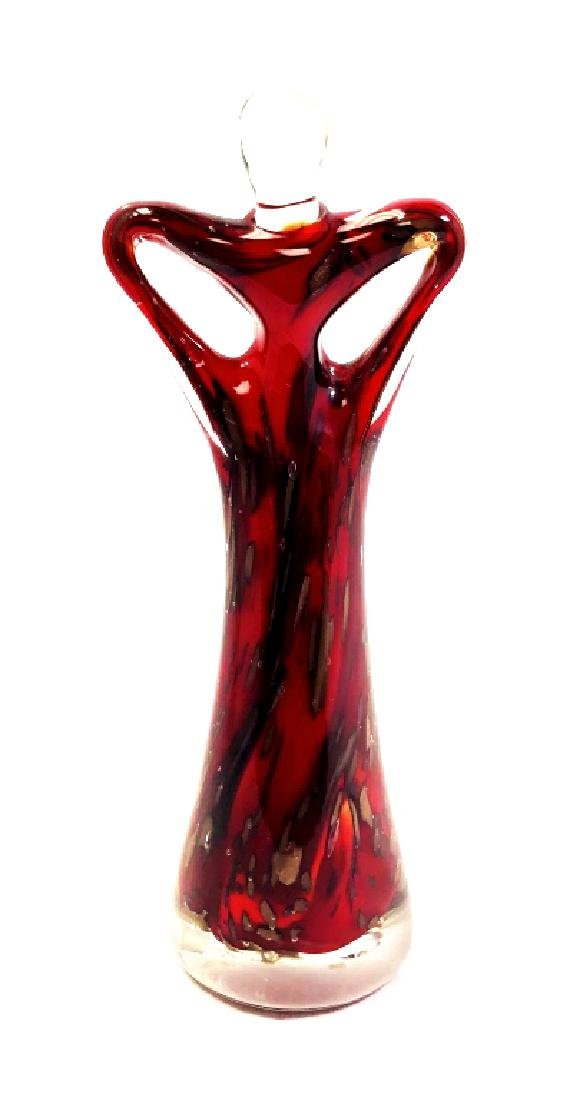 BEAUTIFUL MURANO RUBY RED GOLD SPLASH FIGURINE
