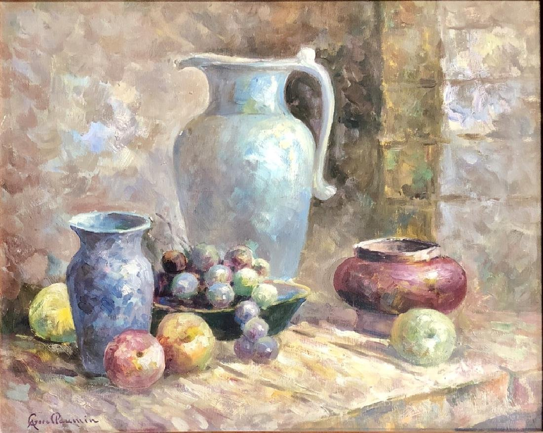 ARMAND GUILLAUMIN OIL ON CANVAS STILL LIFE V$4,000