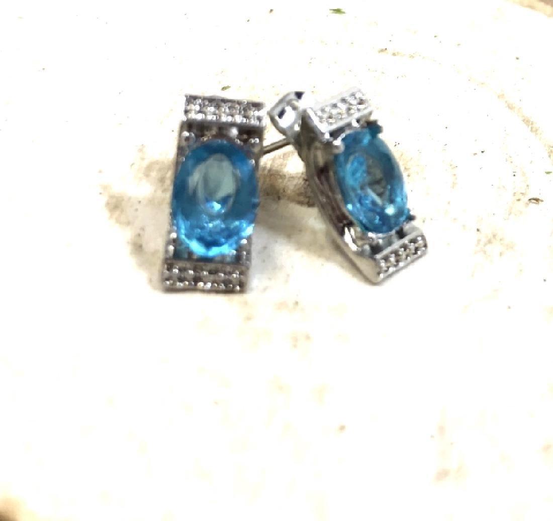 DECO LONDON BLUE TOPAZ 2CT EARRINGS