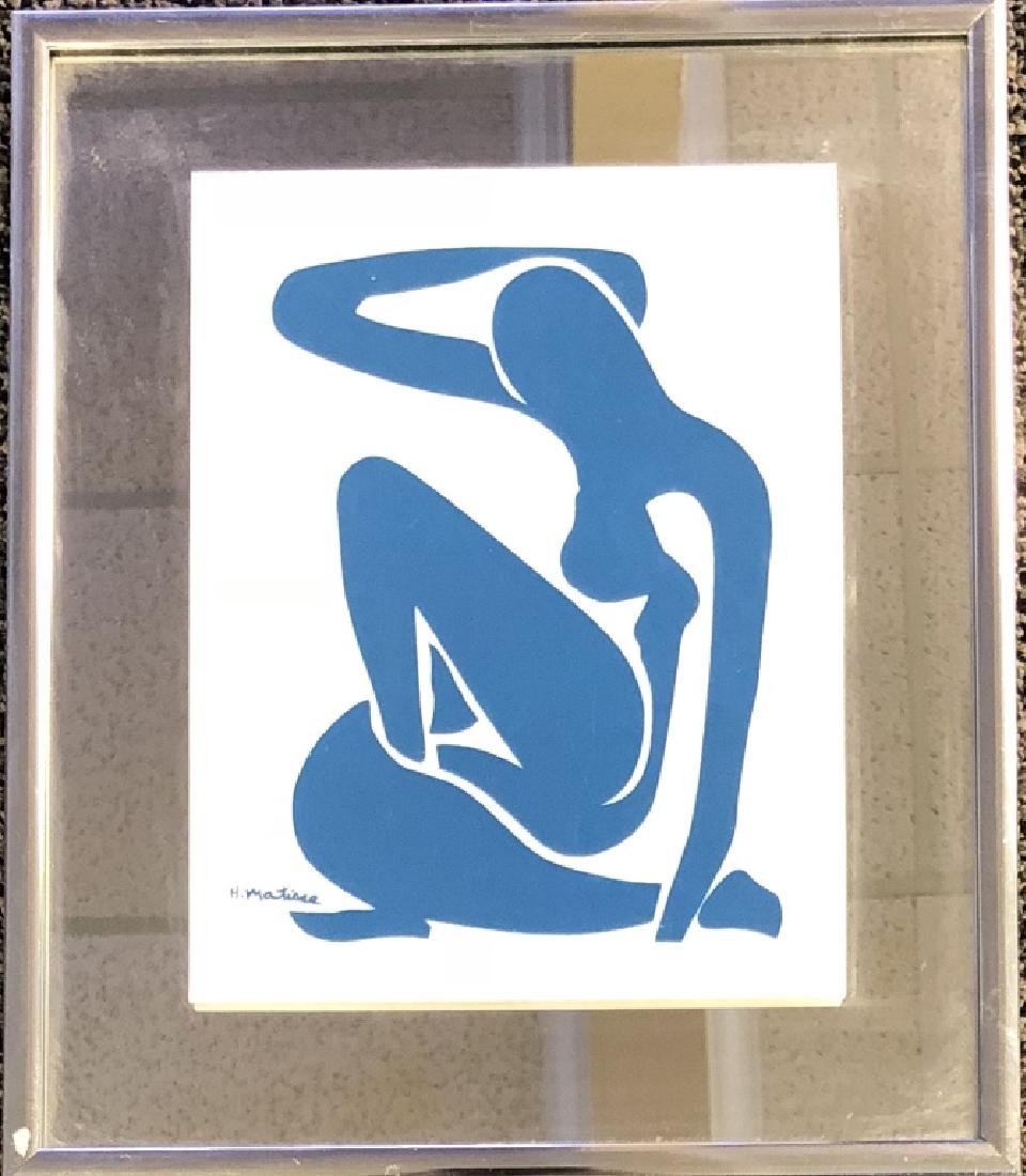 VINTAGE HENRI MATISSE ACRYLIC PLATE ON GLASS