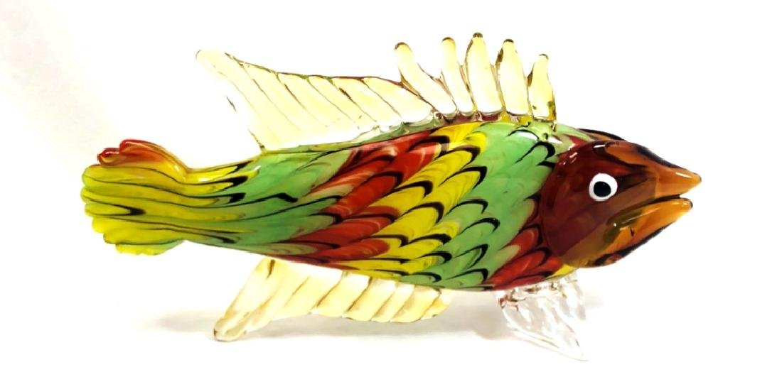 GORGEOUS MURANO MULTI COLOR FISH SCULPTURE