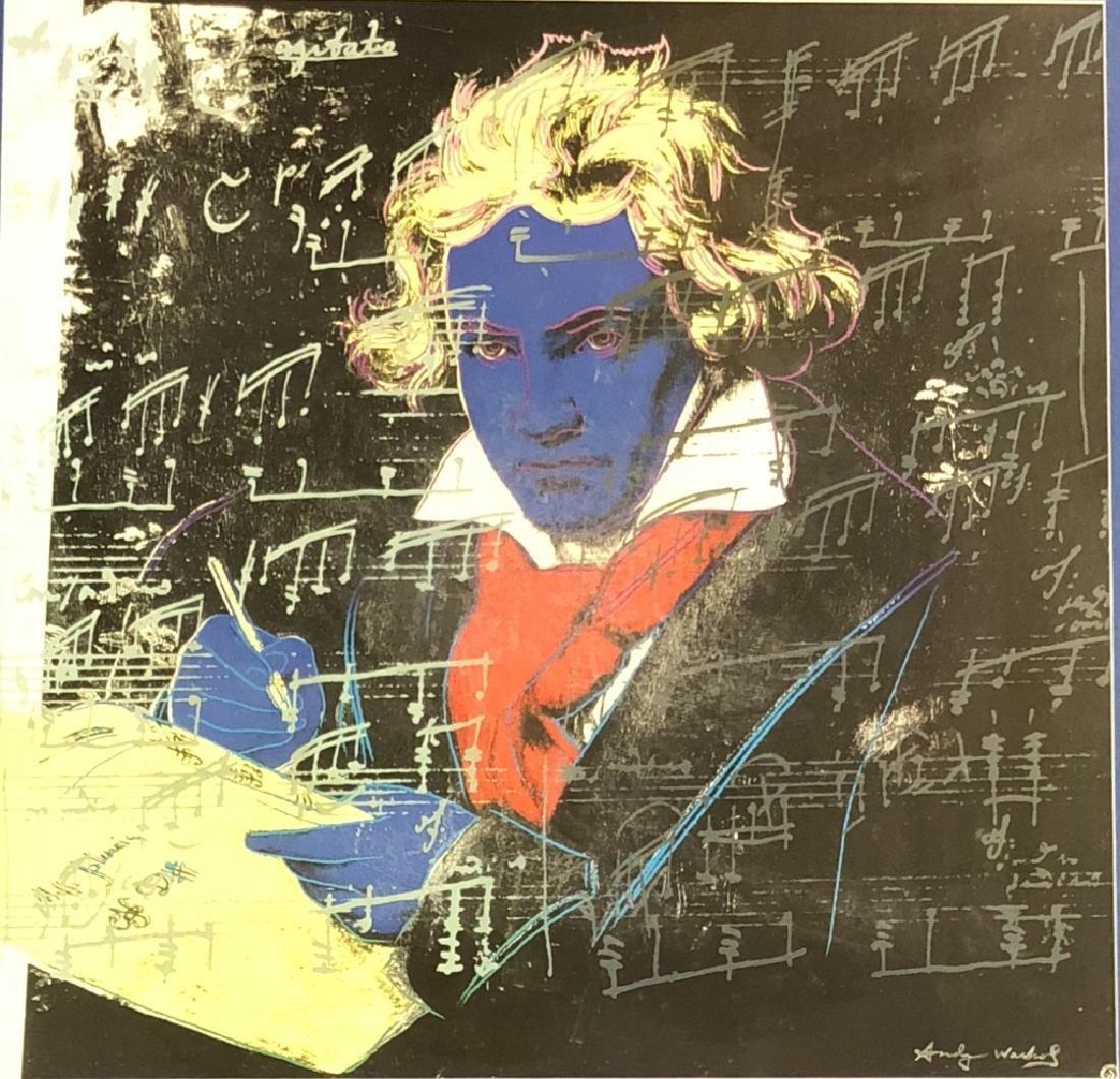 SIGNED ANDY WARHOL POP ART POSTER V$3,000
