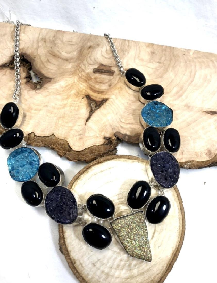 COOL 480CT GEMSTONE COLLAGE NECKLACE