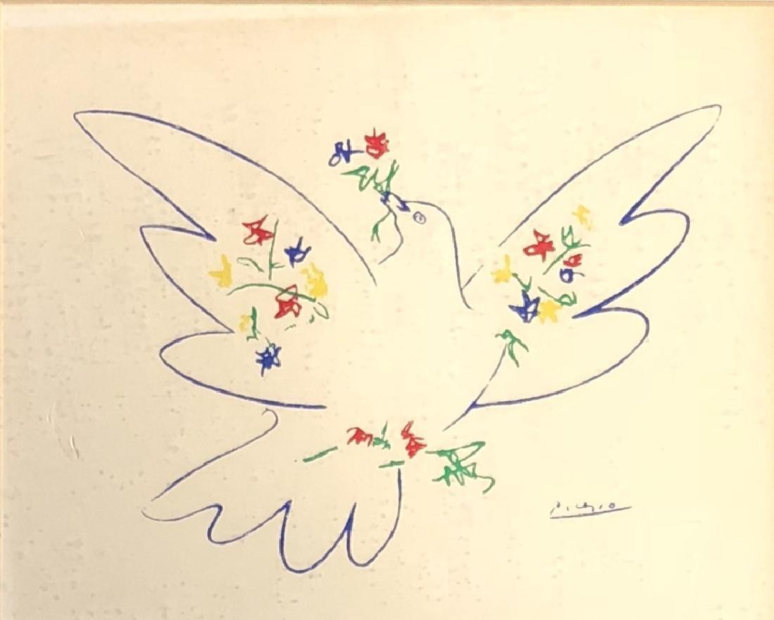 VINTAGE FRAMED PABLO PICASSO FINE ART PRINT