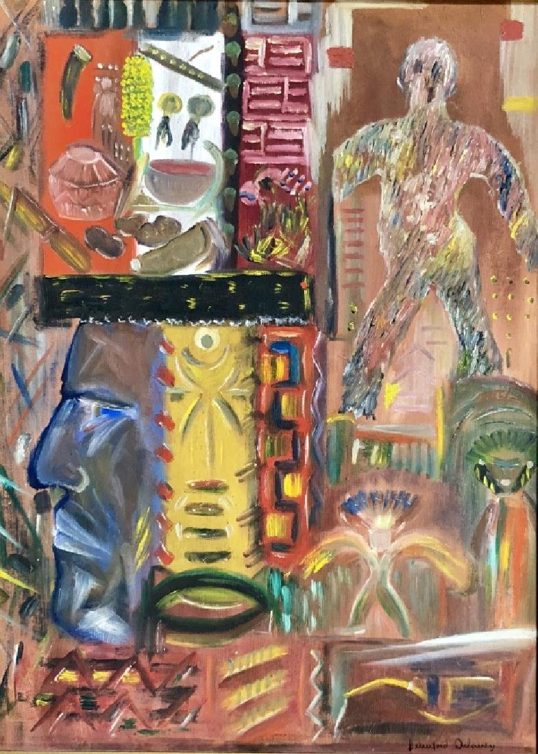 BEAUFORD DELANEY OIL ON BOARD ABSTRACT V$24,000