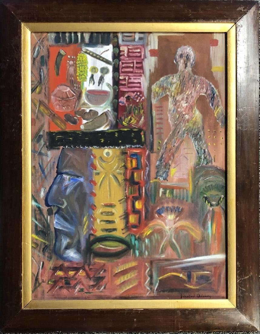 BEAUFORD DELANEY OIL ON BOARD ABSTRACT V$24,000 - 2