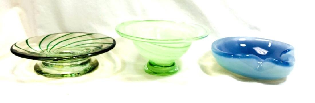LOT OF 3 VINTAGE MURANO GLASS SMALL BOWLS