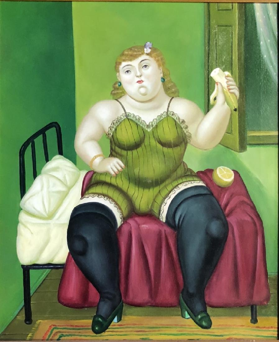 IN THE STYLE OF FERNANDO BOTERO GICLEE'