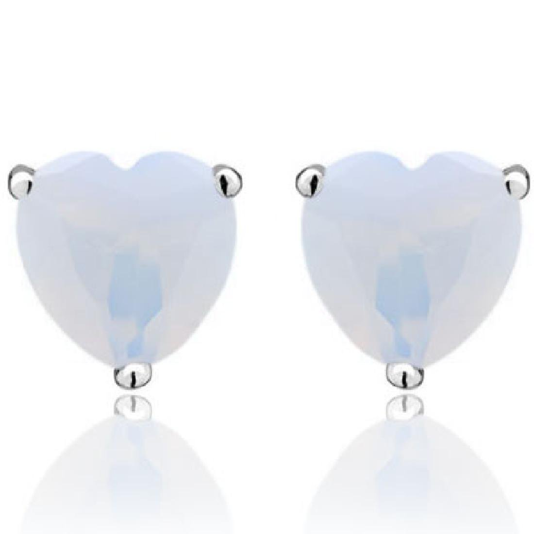 ADORABLE 1CT FIRE OPAL SOLITAIRE EARRINGS