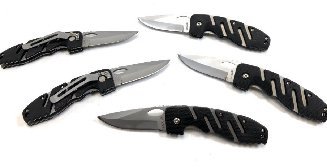 LOT OF 5 NEW FOLDING POCKET KNIVES