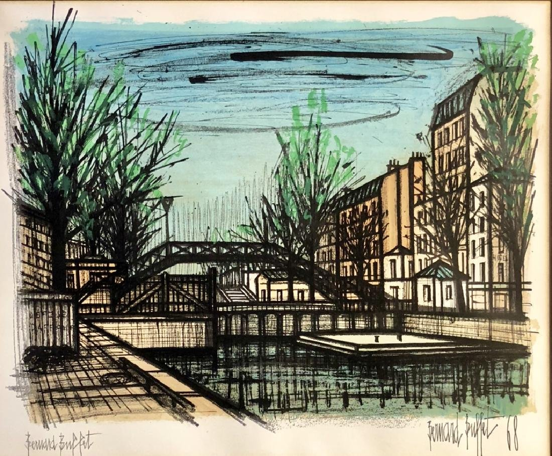 PENCIL SIGNED BERNARD BUFFET LITHOGRAPH V$2,000