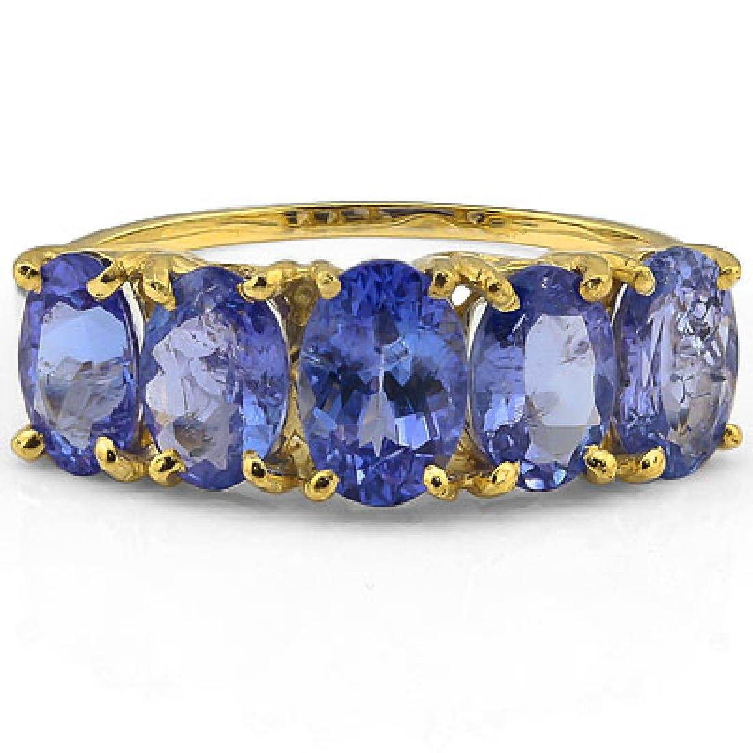ELEGANT 10K GOLD GENUINE 2CT TANZANITE GEMSTONE RG