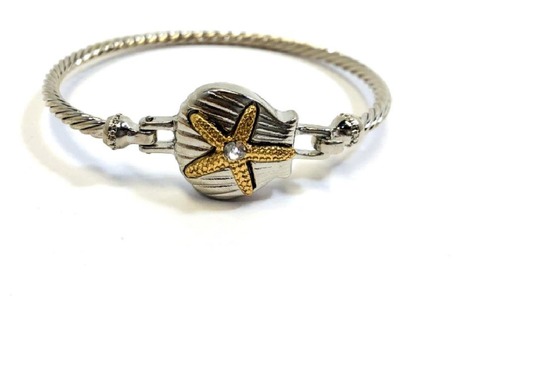 LADIES SILVER STARFISH ACCENT BRACELET