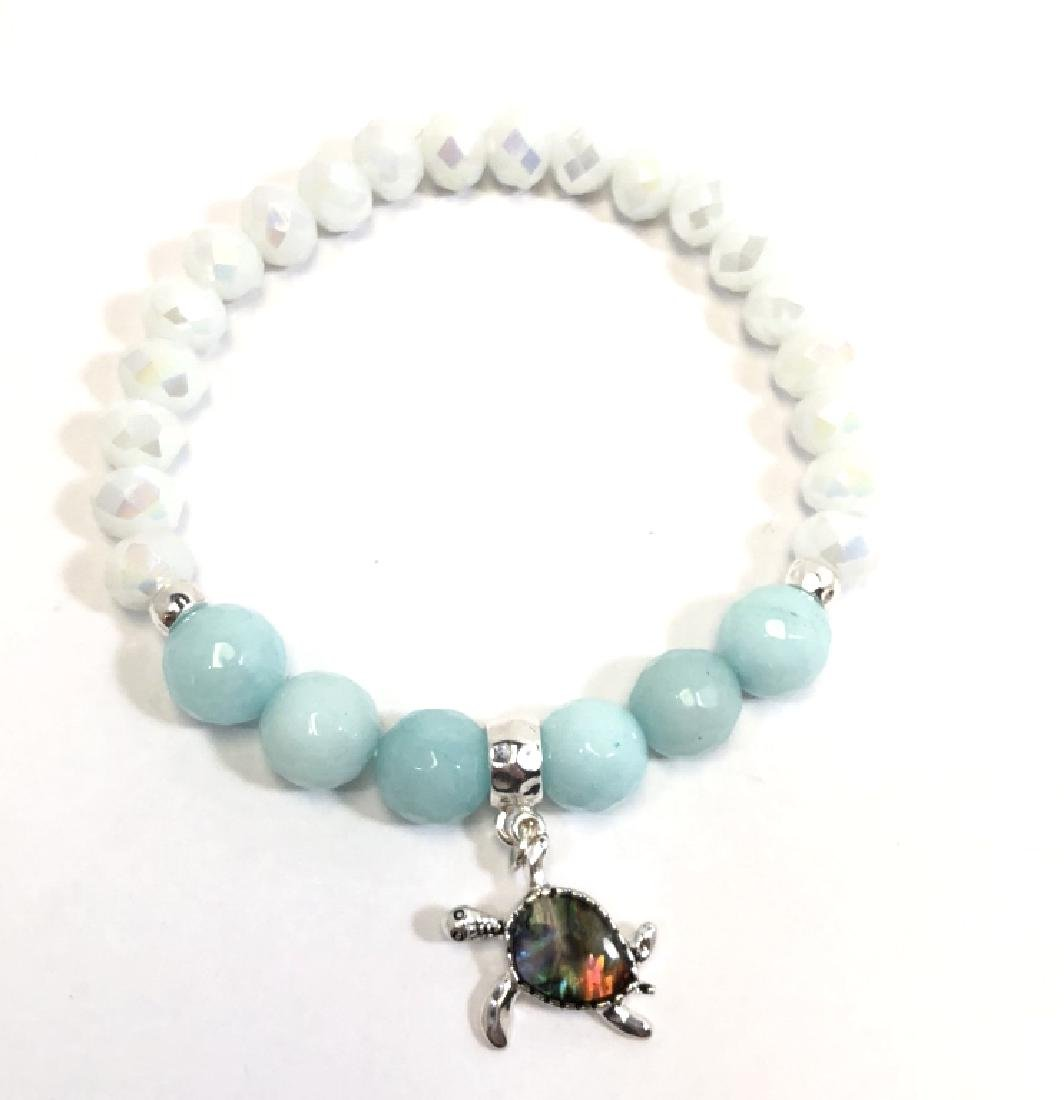 COOL ABALONE SHELL TURTLE ACCENT BRACELET