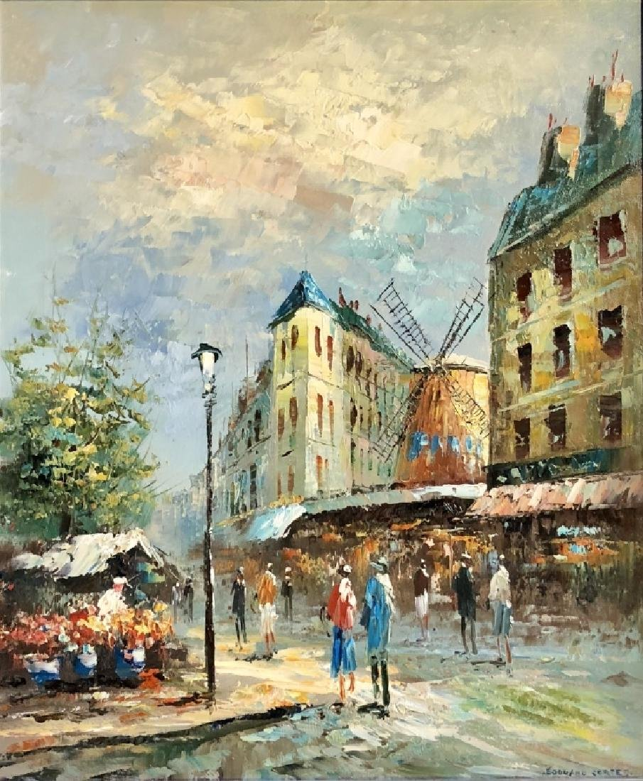 EDOUARD CORTES OIL ON CANVAS MOULIN ROUGE V$8,000